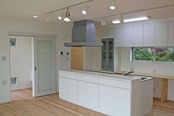 キッチン。広々とした空間